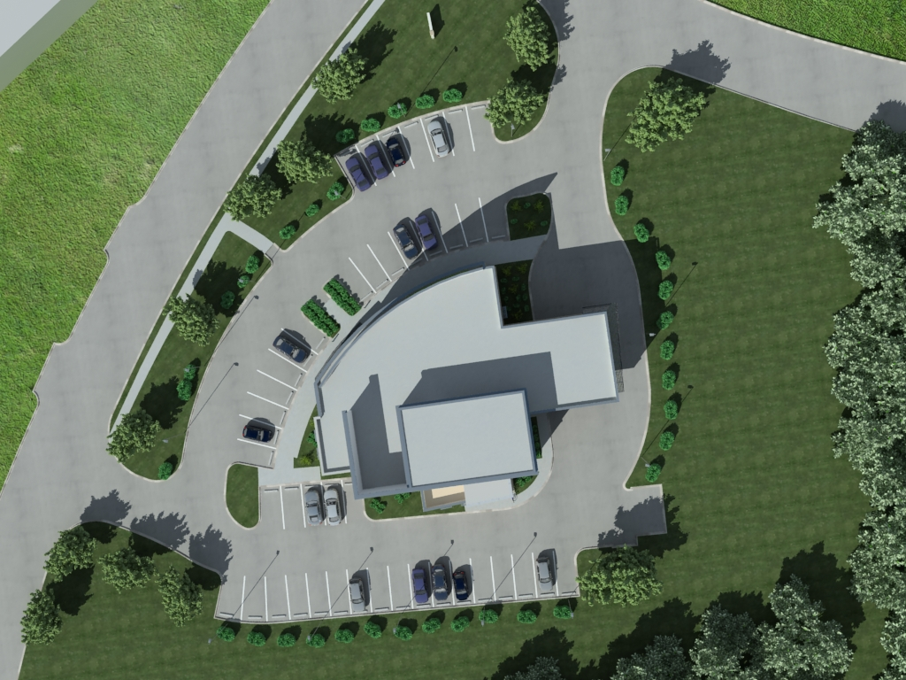 View of bulding for 3d joy studio design gallery best for Site plan 3d
