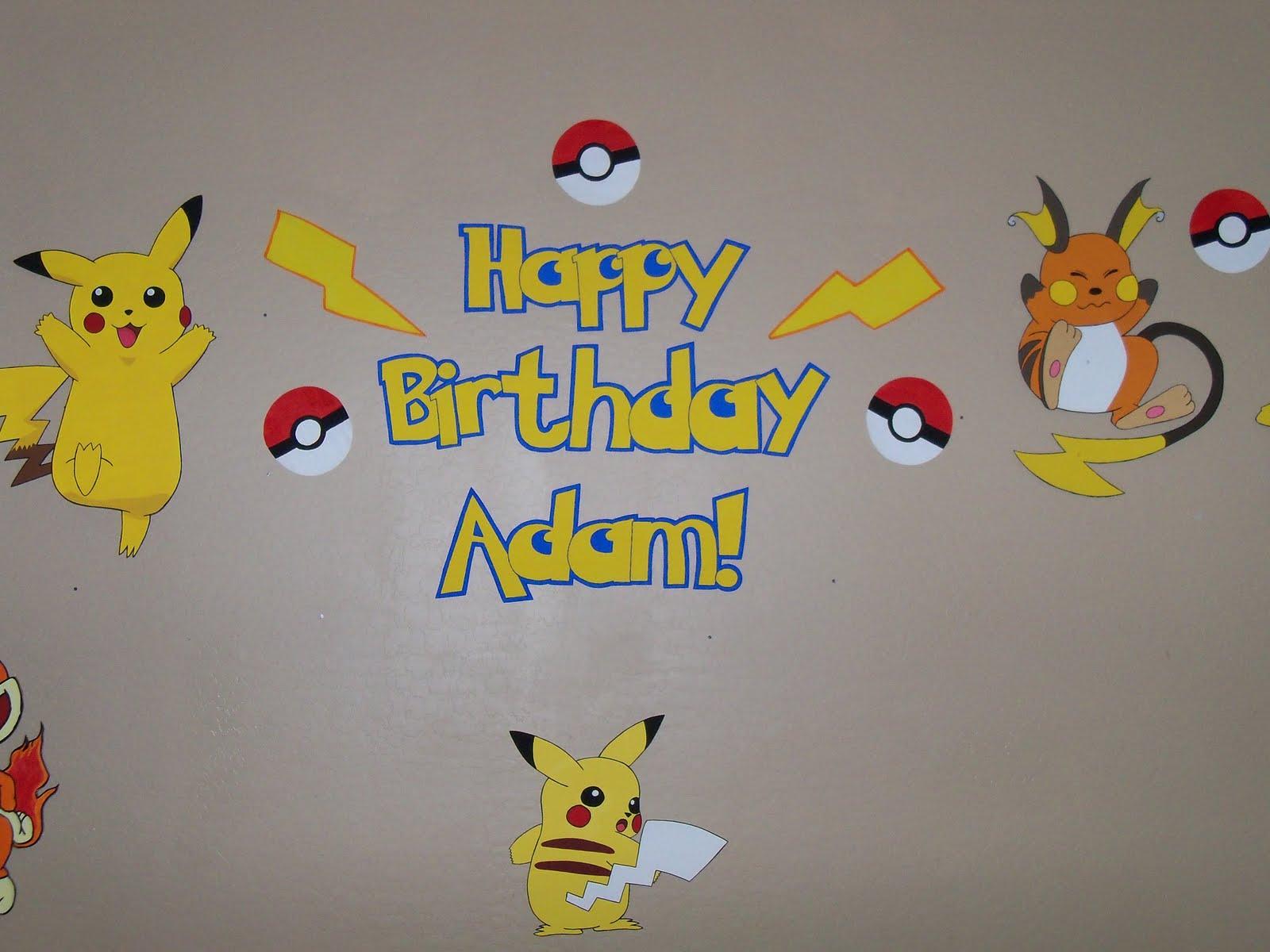 The Creative Party Mom Pokemon Party Adam s 9th Birthday