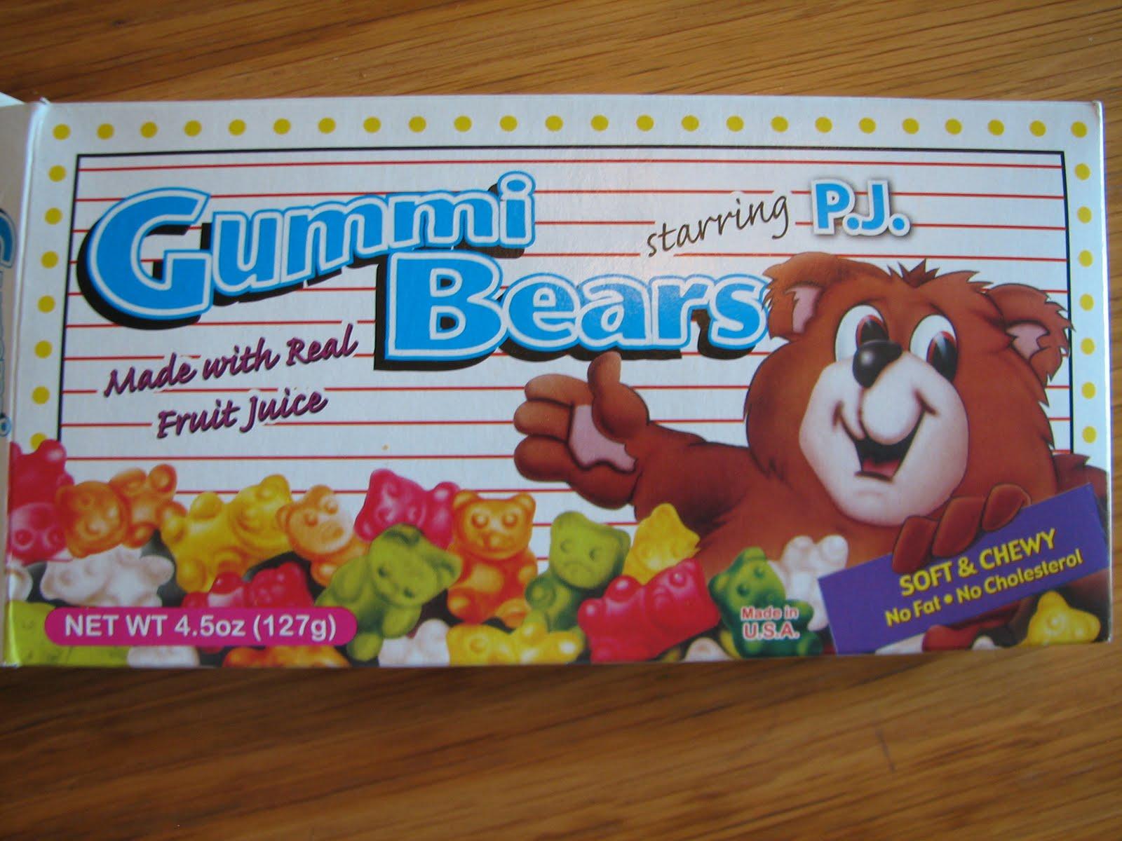 mass of a gummy bear