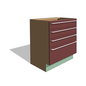 Countertop Material Revit : Free Revit download, Casework: Base Cabinets, Four Revit Component
