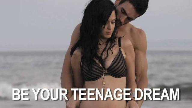 katy perry in tenage dream in her bra