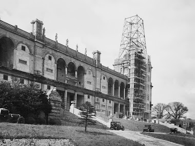 TV mast under construction in 1935 or 1936