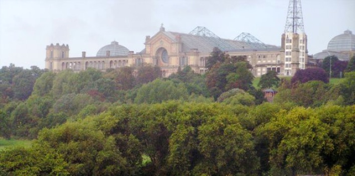 Alexandra Palace in north London, United Kingdom