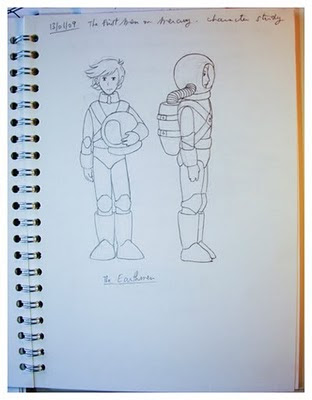 The First Men on Mercury Sketches