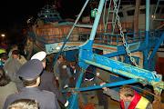 Sbarco extracomunitari porto di Crotone - 31 ottobre 2007