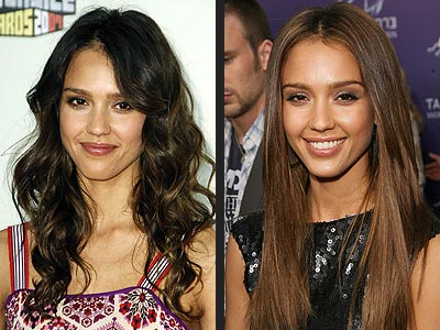jessica alba hair highlights. jessica alba hair color
