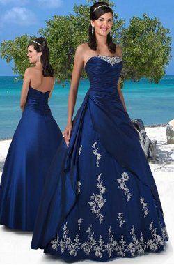 Vestidos azul petroleo fiesta