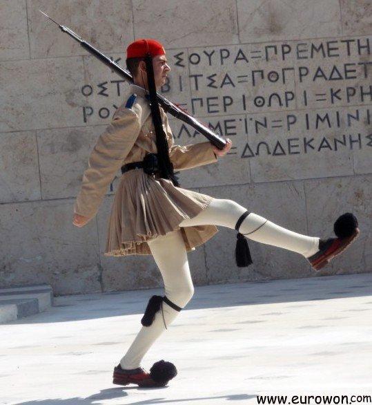 Cambio de la guardia en la plaza de Sintagma de Atenas