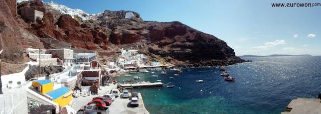 Ammoudi es un pueblo costero de Santorini