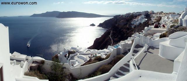 Panorámica de la caldera de Santorini