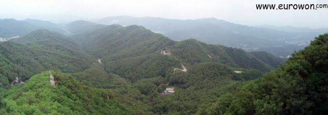 Vista desde el monte Palgongsan de Daegu