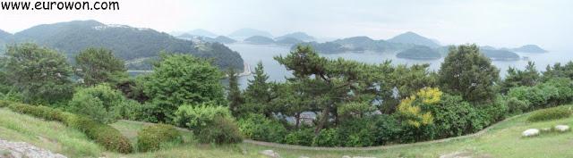 Islas del parque Daragongwon del sur de Corea