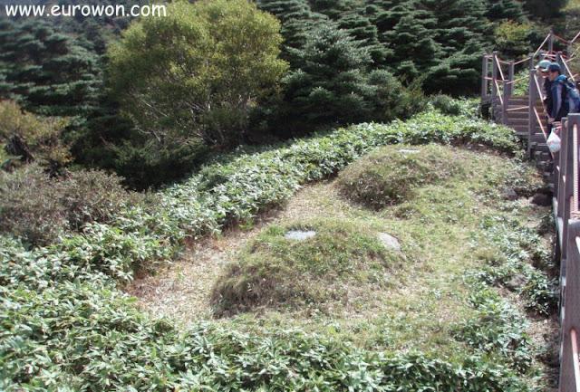 Tumbas coreanas en la montaña Hallasan