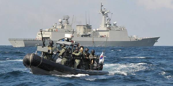 Tropas surcoreanas frente a la costa de Somalia