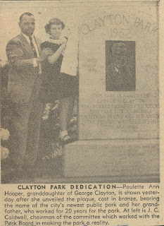 Clayton Park Monument credit: Birmingham Post Herald 11/10/1952