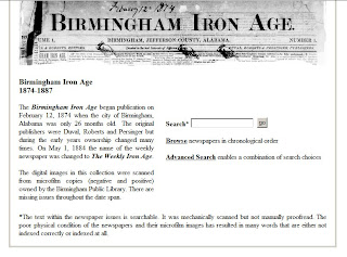 Birmingham Iron Age homepage