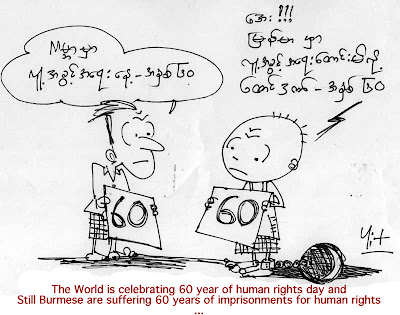 >Cartoon Maung Yit – Human Rights Day – 60 Years