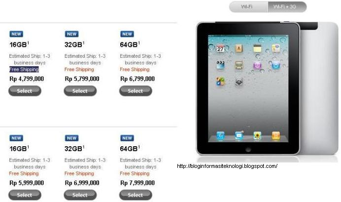 Harga Apple iPad 2 3G Wi-Fi 32GB