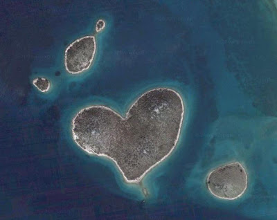 This heart island is Galesnjak, just south of Zadar in Croatia.