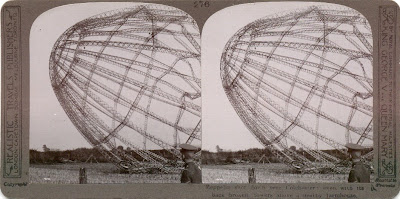 Zeppelin derribado cerca de Colchester, Inglaterra