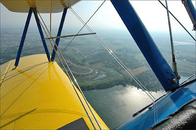 estructura alar de un biplano