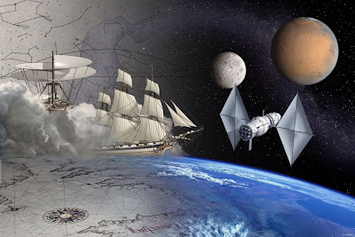 Visión artística del programa Aurora (ESA)