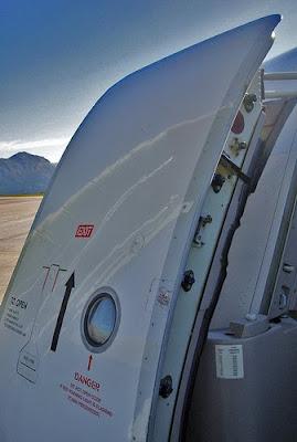 Puerta de cabina de un Airbus