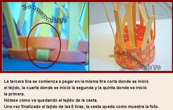 Como hacer cestas con foami - Imagui