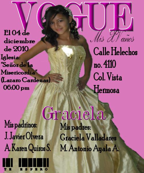 mis pequeñas manualidades: invitacion XV años de portada de revista