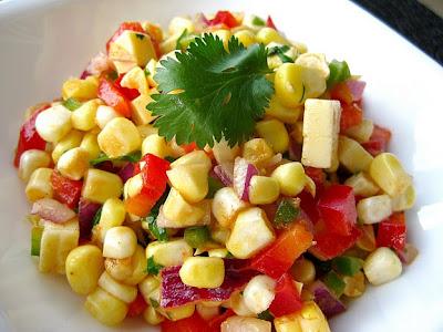 Roasted sweet corn salad