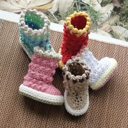 Baby Boots Crochet Pattern | Red Heart