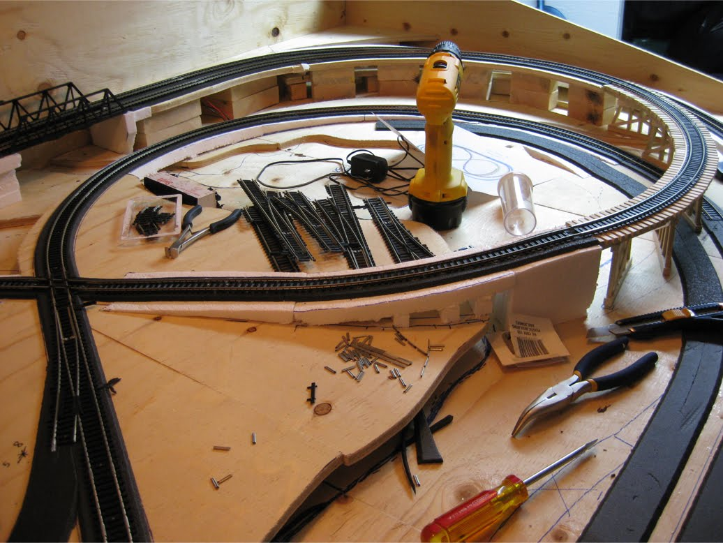 Images Of Train Layouts Moreover Rubiks Calto Wiring Model Railroad Track An Ho Scale Layout With Turnouts Kato