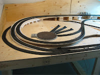 Completed track left half of layout