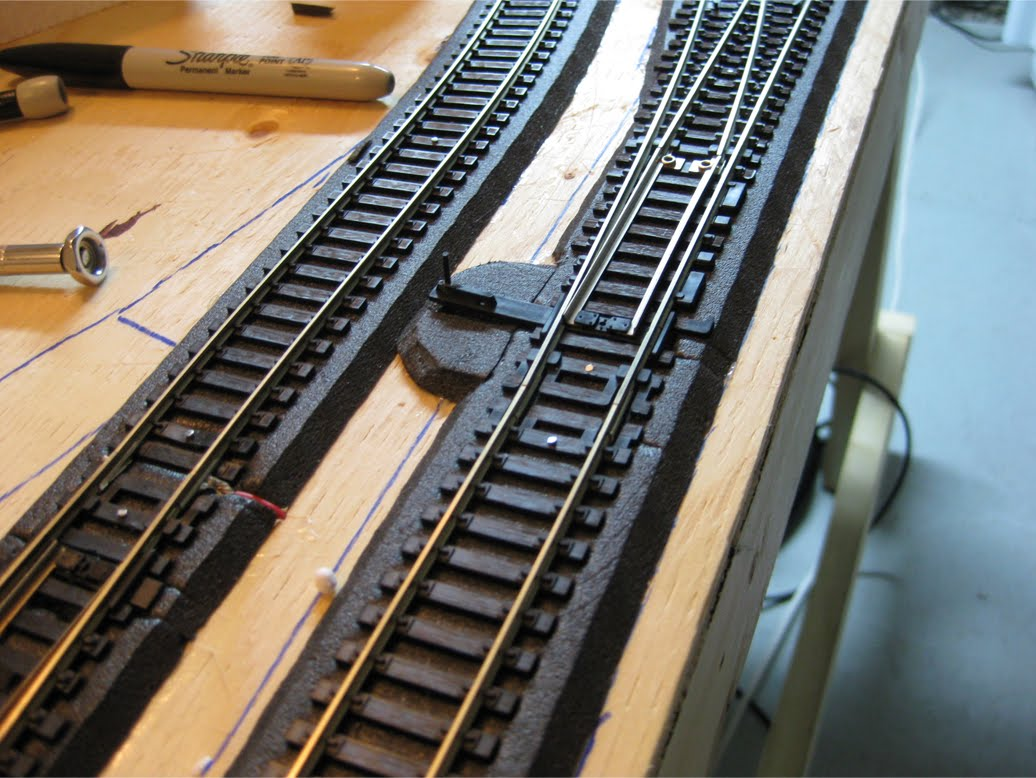 Tys Model Railroad Turnouts Switch Machines Atlas Snap Machine Wiring Diagram Turnout Points