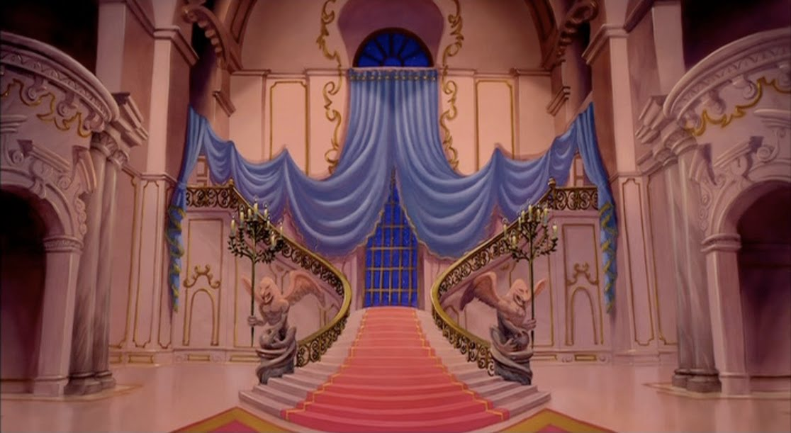 Inside beauty and the beast castle disney world