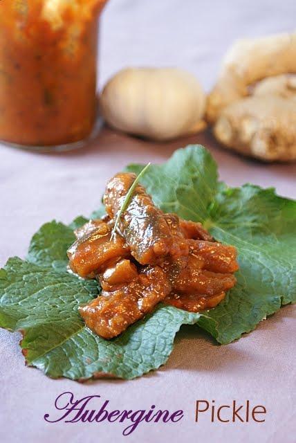 Shab 39 s cuisine aubergine brinjal eggplant pickle for Aubergine cuisine