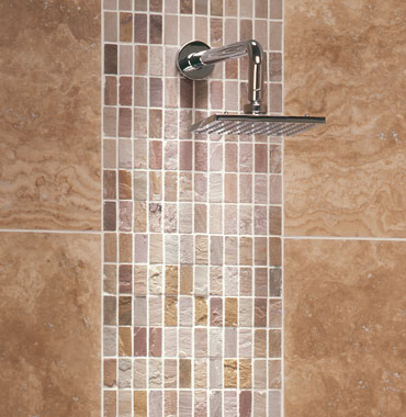 Genc stone inc travertine tile gallery Shower tile layout