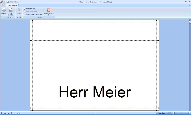 Office Probleme einfach lösen: Namensschilder mit Excel erstellen