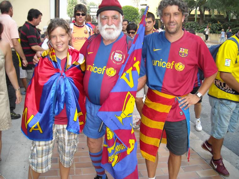 Agost 2009. Amb l'avi del Barça a la final de Mònaco.