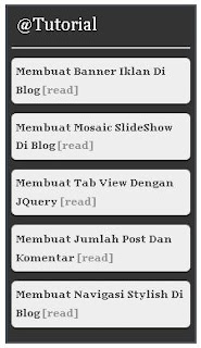 Membuat Widget Feed Reader