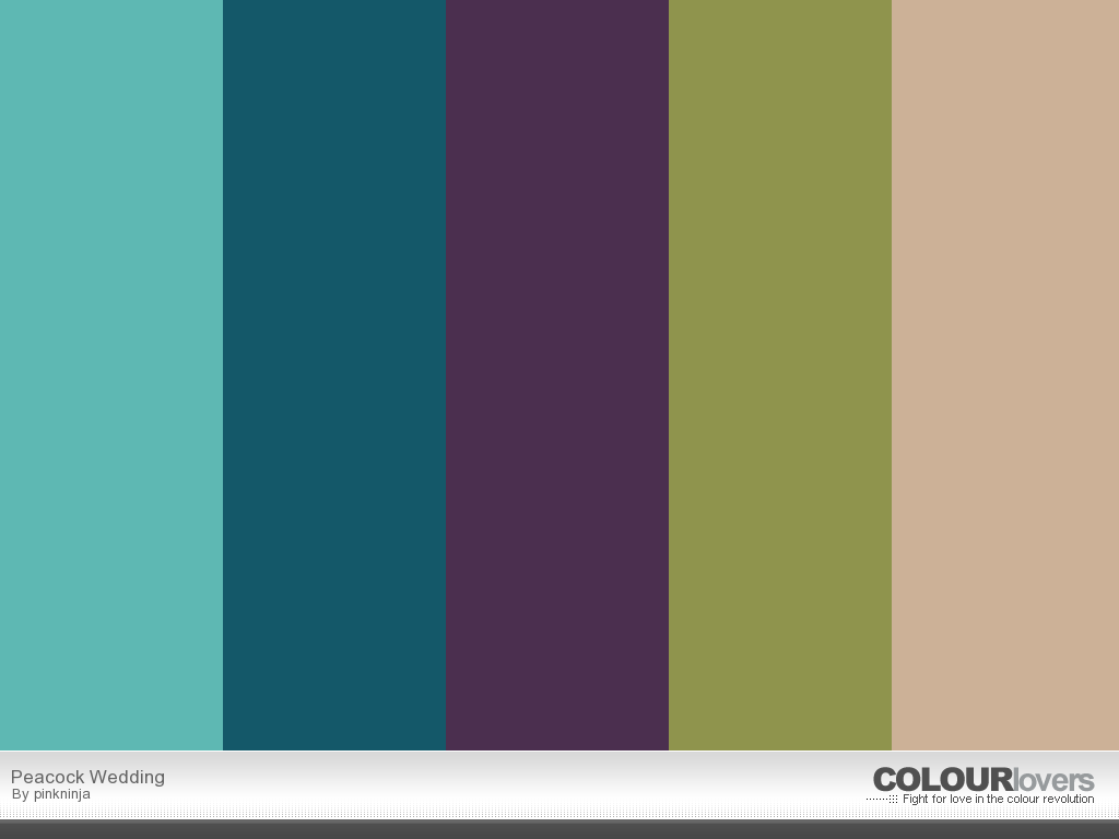 Peacock Wedding Color Palette