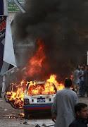 KARACHI, Pakistan — A bomb blast at a major Shiite Muslim procession has . (vehicle is on fire after bomb blast struck shiite muslim procession in karachi pakistan monday dec)