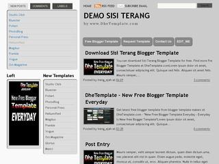 Sisi Terang Blogger Template - oketrik