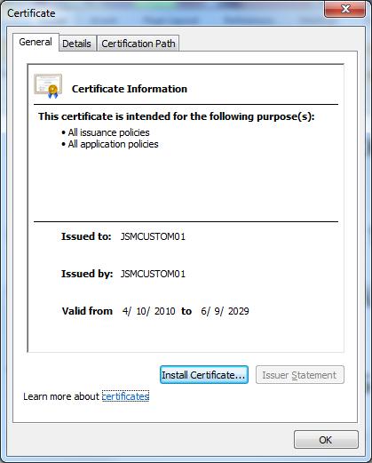 how to fix certificate error