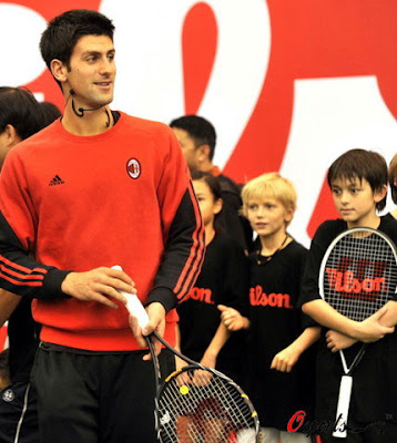 novak djokovic girlfriend. Novak Djokovic at tennis