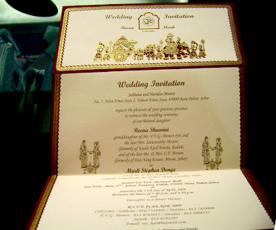 The elaborate wedding card