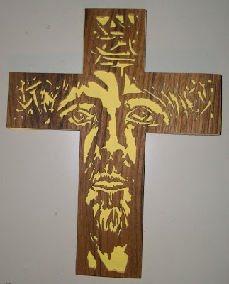 Scrollsaw Workshop: Jesus Saves Cross Scroll Saw Pattern.