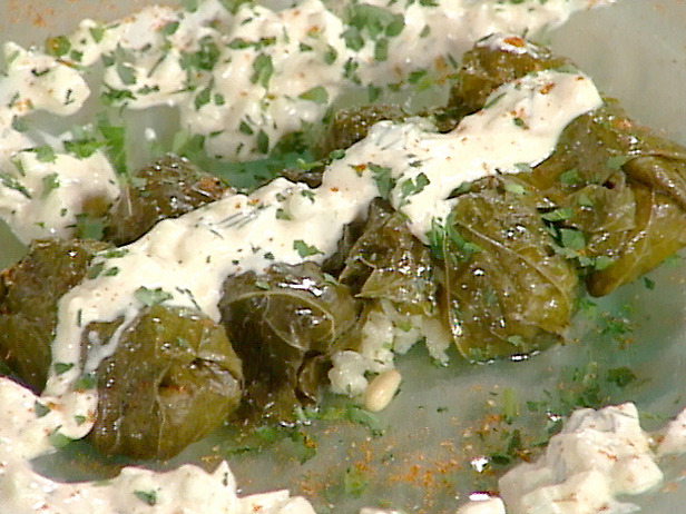 Cafe Vita: DOLMADES (stuffed grape leaves) By Emeril Lagasse