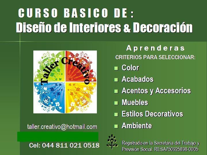 Curso basico de dise o de interiores y decoraci n for Clases de decoracion de interiores