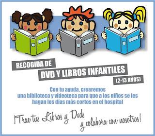 Recogida de dvd y libros infantiles